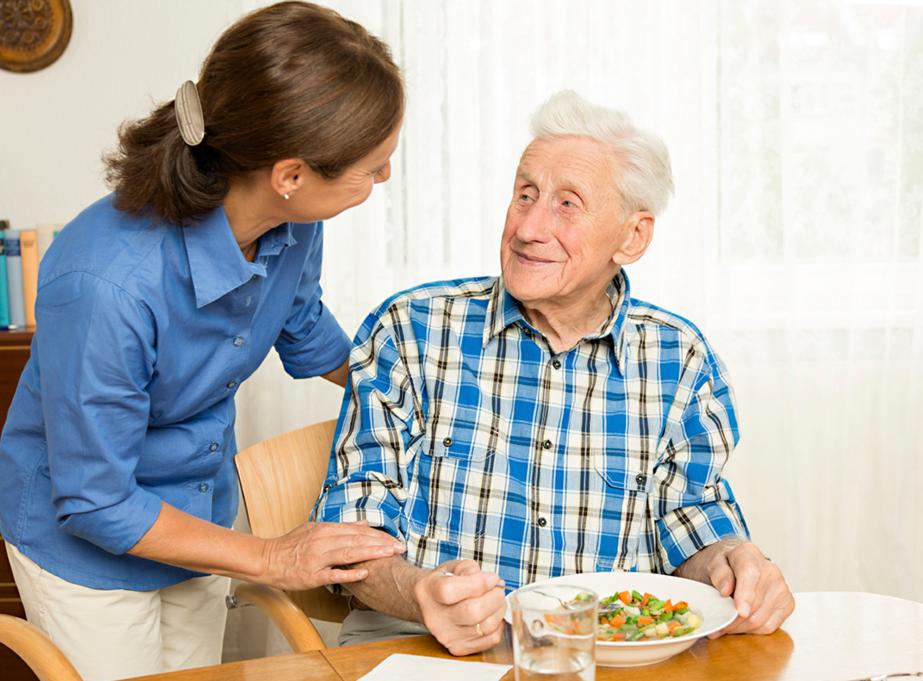 Caregiver as a blessing with senior