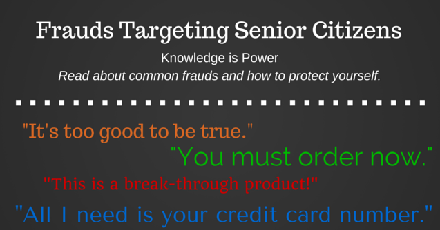 frauds targeting senior citizens